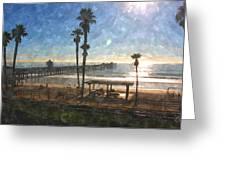 San Clemente Pier Greeting Card