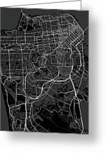 San Francisco California Usa Dark Map Greeting Card