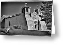 San Francisco De Asis Mission Church Greeting Card