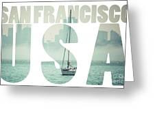 San Francisco Downtown Cityscape, California, Usa  Greeting Card
