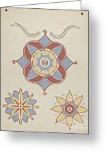 "San Juan Capistrano Mission Ceiling Decoration From The Portfolio ""decorative Art Of Spanish California"" Greeting Card"