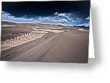 Sand Dunes Of Colorado Greeting Card