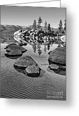 Sand Harbor Ripples Greeting Card