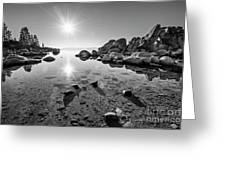 Sand Harbor Star Greeting Card