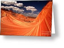 Sandstone Wave Curl Greeting Card