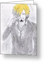 Sanji Greeting Card