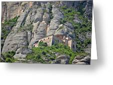 Santa Cova Monserratt Spain Greeting Card