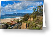 Santa Monica Ca Steps Palisades Park Bluffs  Greeting Card