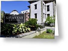 Savannah Law School Greeting Card