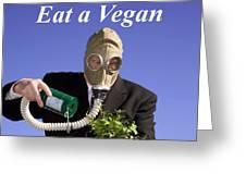 Save A Plant Eat A Vegan Greeting Card