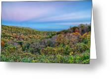 Scenic Blue Ridge Parkway Appalachians Smoky Mountains Autumn La Greeting Card