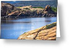 Scenic Willow Lake  Greeting Card