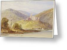 Schloss Stolzenfels From The Banks Of The Lahn Greeting Card