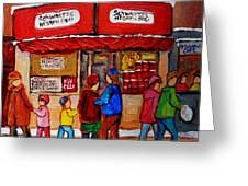 Schwartz's Hebrew Deli Greeting Card