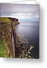 Scotland Kilt Rock Greeting Card by Nina Papiorek