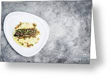 Sea Bass Fish With Mexican Salsa Sauce Greeting Card
