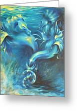 Seahorses In Love 3 Greeting Card