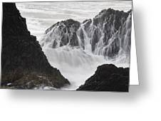 Seal Rock Waves And Rocks 2 Greeting Card