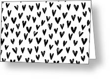 Seamless Pattern With Hand Drawn Hearts.  Greeting Card