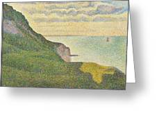 Seascape At Port-en-bessin Normandy Greeting Card