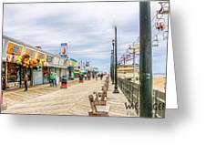 Seaside Boardwalk Greeting Card