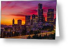 Seattle Colors... Greeting Card