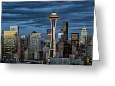 Seattle Night Greeting Card