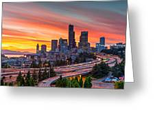 Seattle On Firer Greeting Card