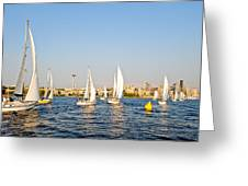 Seattle Sailboat Race Greeting Card