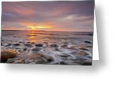Seawall Sunrise Greeting Card