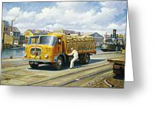 Seddon At Poole Docks. Greeting Card