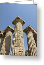 Segesta Greek Temple In Sicily, Italy Greeting Card