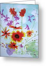 Selected Wild Flowers Greeting Card