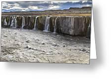 Selfoss Waterfall Greeting Card