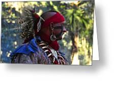 Seminole Warrior Greeting Card