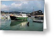September Morning - Lyme Regis Harbour Greeting Card
