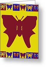 Serendipity Butterflies Brickgoldblue 5 Greeting Card