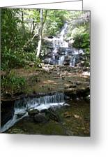 Set Rock Creek Falls Greeting Card