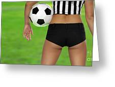 Sexy Referee Greeting Card