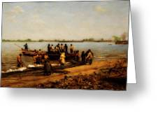 Shad Fishing On The Delaware River Greeting Card