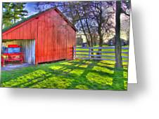 Shaker Carriage Barn 2 Greeting Card