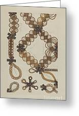 Shaker Hair Wreath Greeting Card