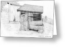 Shed And Wpa Outhouse On Johnson Farm Greeting Card