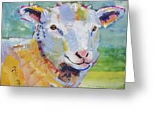 Sheep Head Greeting Card