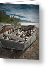 Shipwreck At Neys Provincial Park Greeting Card