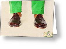 Shoe Work Greeting Card