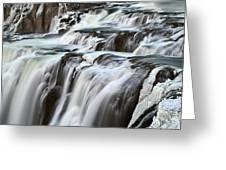 Shoshone Falls Close Up Greeting Card