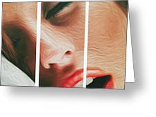 Side Kiss- Greeting Card by JD Mims