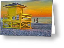 Siesta Key Sunset Greeting Card
