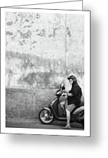 Signora Black And White Greeting Card by Marco Hietberg